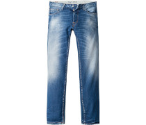 Herren Jeans Regular Fit Baumwolle 11 oz jeansblau