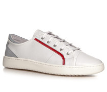Herren Schuhe Sneaker Nappaleder weiß
