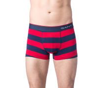 Herren Unterwäsche Trunk Baumwoll-Stretch blau-rot gestreift