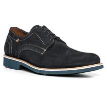 Schuhe Derby Kalbveloursleder dunkel