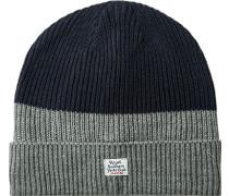 Herren GAASTRA Mütze Microfaser grau-blau