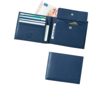 Herren  Geldbörse Leder jeansblau