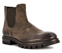 Schuhe Chelsea Boots Flechter Kalbleder dunkel