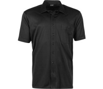 Herren Hemd Jersey schwarz