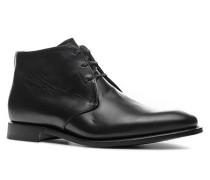 Herren Schuhe Schnürstiefeletten, Kalbleder, schwarz
