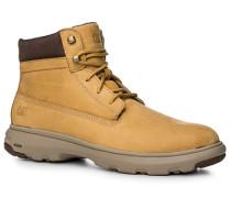 Herren Schuhe Schnürstiefeletten Veloursleder beige beige,beige
