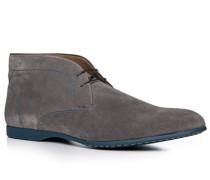 Herren Schuhe Desert Boots Veloursleder grau grau,beige