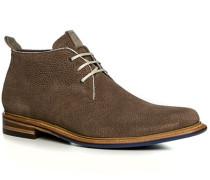Herren Schuhe Stiefeletten Kalbleder greige