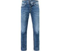 Herren Jeans Regular Fit Baumwoll-Stretch blau