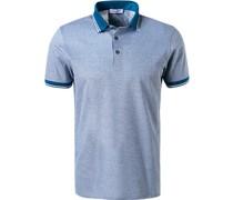 Polo-Shirt Baumwoll-Piqué azur