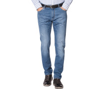 Herren Jeans Trike, Contemporary Fit, Baumwoll-Stretch, denim blau