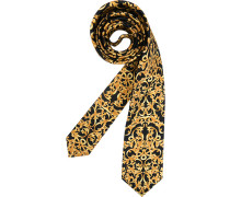 Herren Krawatte  gelb,schwarz