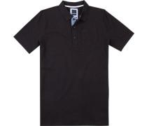 Herren Polo-Shirt Modern Fit Baumwoll-Pique schwarz