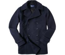 Herren Kurzmantel Woll-Mix navy blau,schwarz