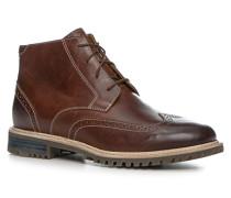 Herren Schuhe Schnürstiefeletten Leder