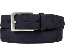 Herren Gürtel marineblau Breite ca. 3,5 cm