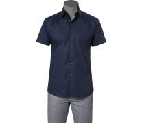 Herren Hemd, Slim Fit, Popeline, marine blau