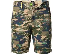 Hose Shorts Baumwolle  gemustert