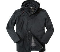 Herren Drei-in-eins-Mantel Baumwoll-Mix MTD®-Technologie schwarz