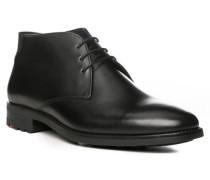 Herren Schuhe OXFORD, Kalbleder warm gefüttert, schwarz