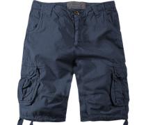 Herren Hose Cargoshorts Regular Fit Baumwolle navy blau
