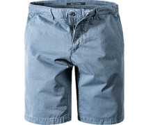 Herren Shorts Regular Fit Baumwolle jeansblau