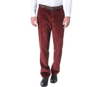 Herren Cordhose Contemporary Fit Baumwolle bordeaux