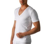 Herren Drunterhemd Baumwoll-Mix weiß