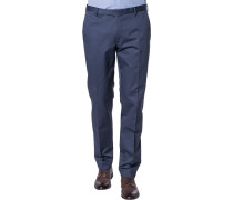 Herren Anzughose Slim Fit Baumwoll-Stretch grau