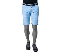 Herren Hose Shorts Baumwoll-Stretch aqua blau
