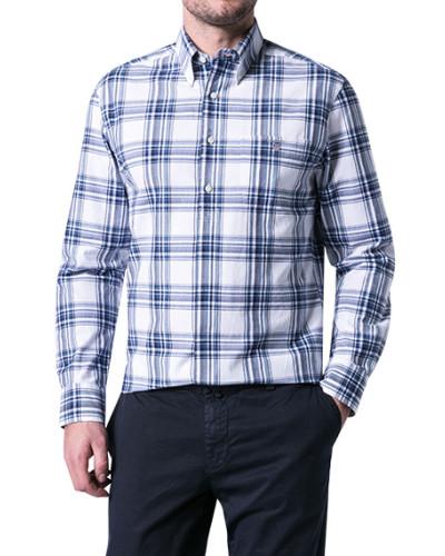 Hemd, Regular Fit, Popeline, blau kariert