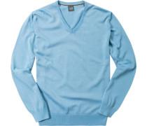 Herren Pullover Baumwolle hellblau