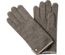 Herren ROECKL Handschuhe Schurwolle taupe meliert beige