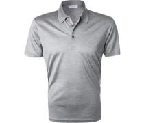 Polo-Shirt Seiden-Jersey hell meliert