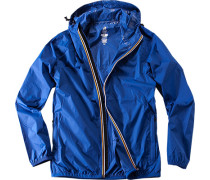 Herren Regenjacke, Regular Fit, Microfaser wasserabweisend, royal blau