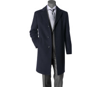 Herren Mantel Kaschmir-Mix dunkelblau