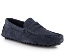 Schuhe Mokassins Veloursleder navy