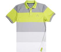Herren Polo-Shirt Microfaser Drycomfort® lindgrün-grau gestreift