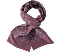 Herren  Schal Seide rosenholz-blau gemustert rosa