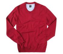 Herren Pullover, Modern Fit, Baumwolle, rot