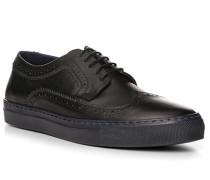 Herren Schuhe Sneaker, Kalbleder, navy blau