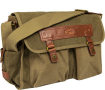 Herren   Messenger Bag Canvas khaki grün