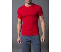 Herren T-Shirt Baumwoll-Stretch rot