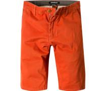 Herren Hose Shorts Straight Fit Baumwolle orange