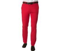 Herren Hose Chino Baumwoll-Stretch hell