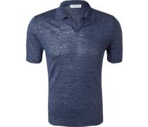 Polo-Shirt, Leinen,  meliert