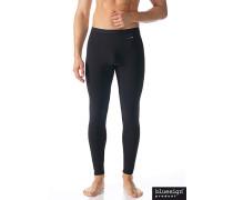 Herren Lange Unterhose, Microfaser, schwarz