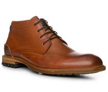 Herren Schuhe Stiefelette, Kalbleder, cognac braun