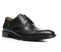 Herren Schuhe Brogues, Leder, anthrazit grau