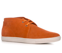 Herren Schuhe Desert Boots Rindveloursleder orange